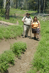 Here we are hiking out of McGurk's meadow.