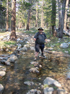 The smaller streams didn't have bridges.  We just had to hop across the rocks.  The water here is deeper than it looks.