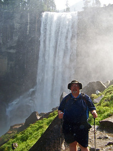 You get your first full on sight of the waterfall.  There is so much mist that you have to take your picture quick to keep from ruining your camera.  From here you really begin to feel like you are a part of the waterfall.  It's roar is so loud you can hear it from miles away.  Here, we are only a few hundred feet.