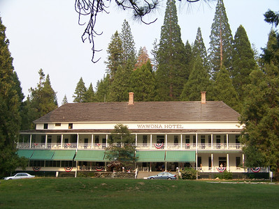 We ate supper at the Wawona Hotel.  It is 130 years old and has had many famous guests including president Teddy Roosevelt.