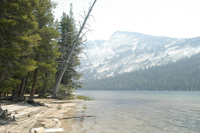 We ate our lunch on the bank of Tenaya Lake.  It was very beautiful.