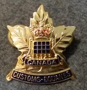 Customs Hat Badge