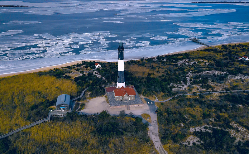 Wintry Great South Bay- FI Lighthouse