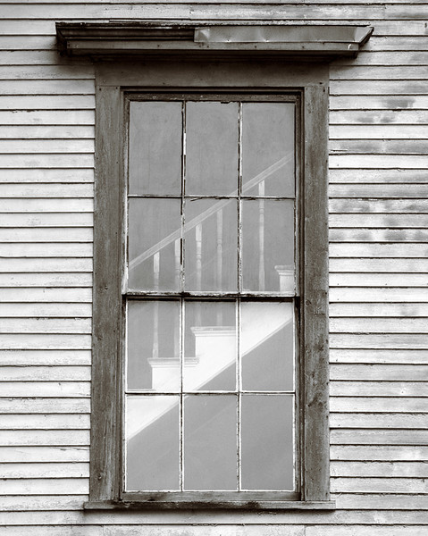 Rear Window<br /> A slightly voyeuristic photograph, this is from an old lodge hall that was being converted to a residence. It's located in coastal Maine, a great location for all sorts of photography.