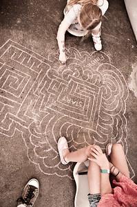Chalk maze