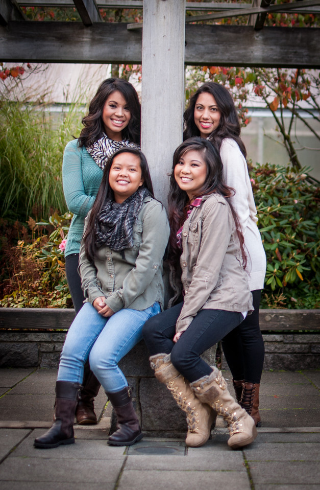 2014.10.19 - Iris, Maressa, Teresa & May at the Arboretum