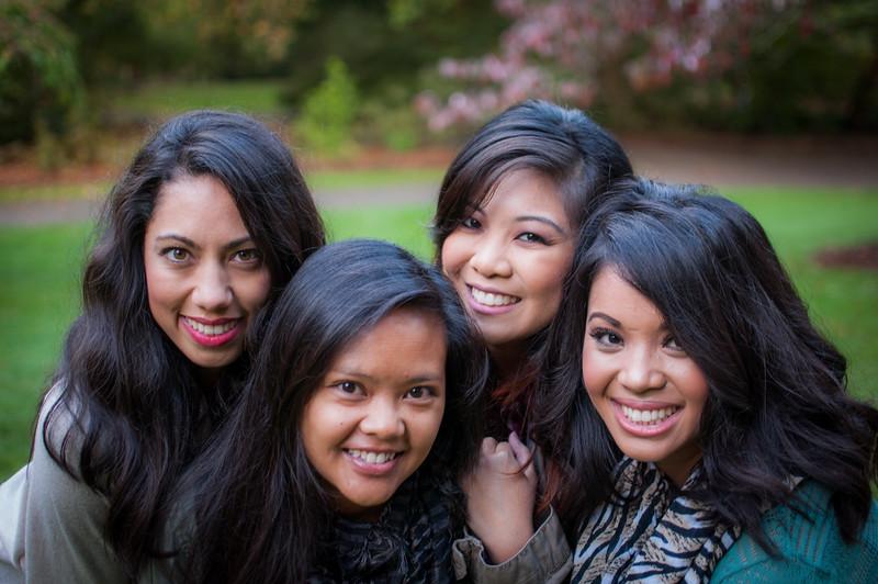 2014.10.19 - Iris, Maressa, Teresa & May at the Arboretum