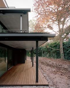 07 Mehrfamilienhaus Gatternweg, Riehen | Staffelung Balkone Seite