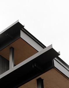 09 Mehrfamilienhaus Gatternweg, Riehen | Detailansicht Rinnen