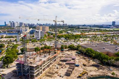 Aerial photo SLS Resort Hallandale Beach FL USA