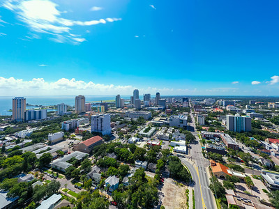 Aerial photo Downtown St Petersburg Florida no logos
