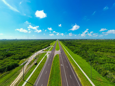 Aerial photo 4th Street North to St Petersburg Florida USA