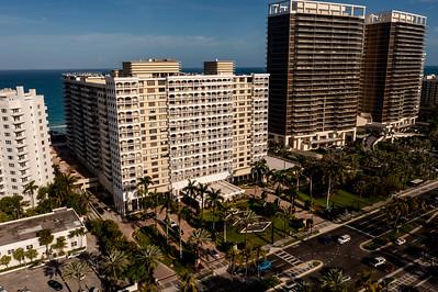 Aerial photo of the The Balmoral condos Bal Harbour Miami Beach FL