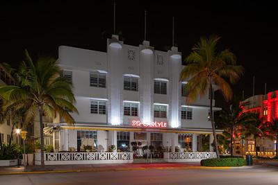 The Carlyle Hotel Miami Beach Ocean Drive shut down due to Coronavirus Covid 19 pandemic