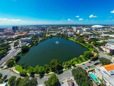 Aerial photo of Mirror Lake St Petersburg Florida USA