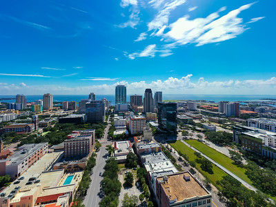 Aerial photo Downtown St Petersburg Florida view of Tampa Bay
