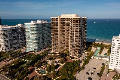 Aerial photo of the Bal Harbour Tower Condominium Miami Dade FL