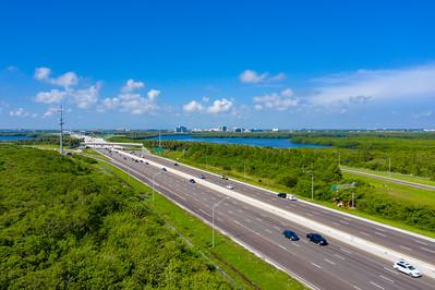 Aerial photo of highway 275 Howard Frankland Bridge