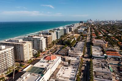 Beautiful aerial photo Surfside Miami FL