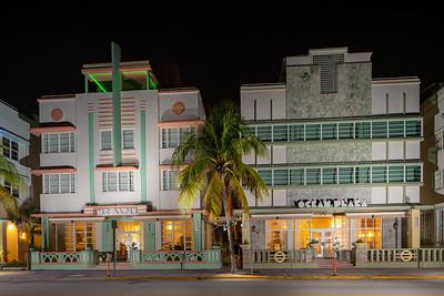 Mc Alpin and Ocean Plaza Hotels Miami Beach shut down during Coronavirus Covid 19 pandemic