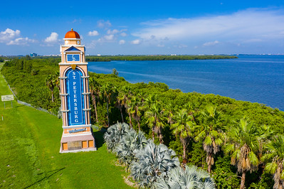 Aerial photo Welcome to St Petersburg Florida USA