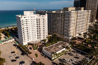 Aerial photo Sea View Condo Bal Harbour Miami FL