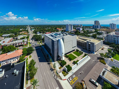 Aerial photo Museum of the American Arts and Crafts Movement St Petersburg FL USA modern architecture