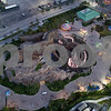 Aerial drone photo of the Gulfstream Pegasus statue