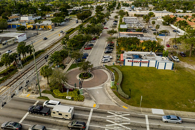 Aerial photo Downtown Oakland Park FL