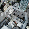 Aerial inspection Panorama Tower rooftop