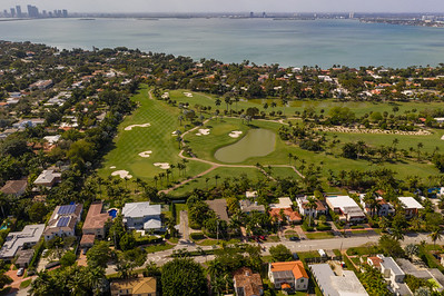 Aerial photo Miami Beach golf course landscape