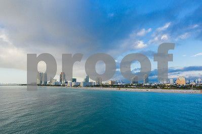 Blue morning hue in Miami Beach