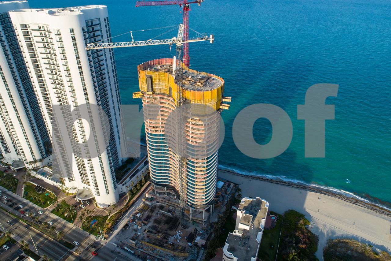 Solis under construction Sunny Isles Beach Florida