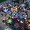Aerial carnival at night
