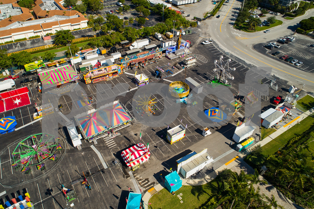 Aerial photo Broward County Fair