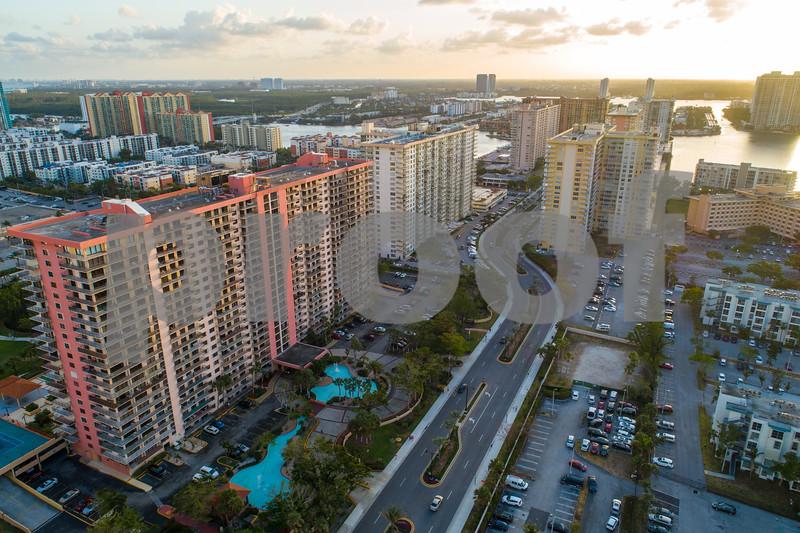 Old condominium buildings Florida