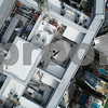 Drone photo of a highrise rooftop inspection topoff