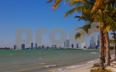 Key Biscayne Beach and Brickell Miami FL scenic image