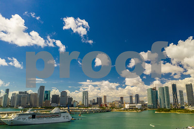 Epic shot of Downtown Miami taken with a drone