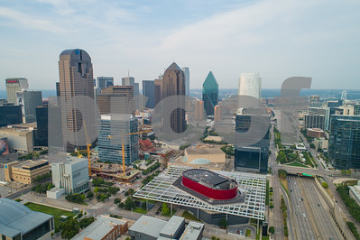 Aeril drone photo of Downtown Dallas Texas