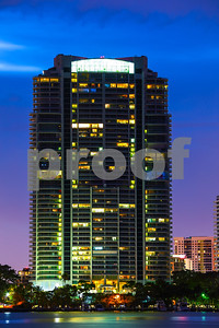 Santa Maria Condominium at night Brickell Miami