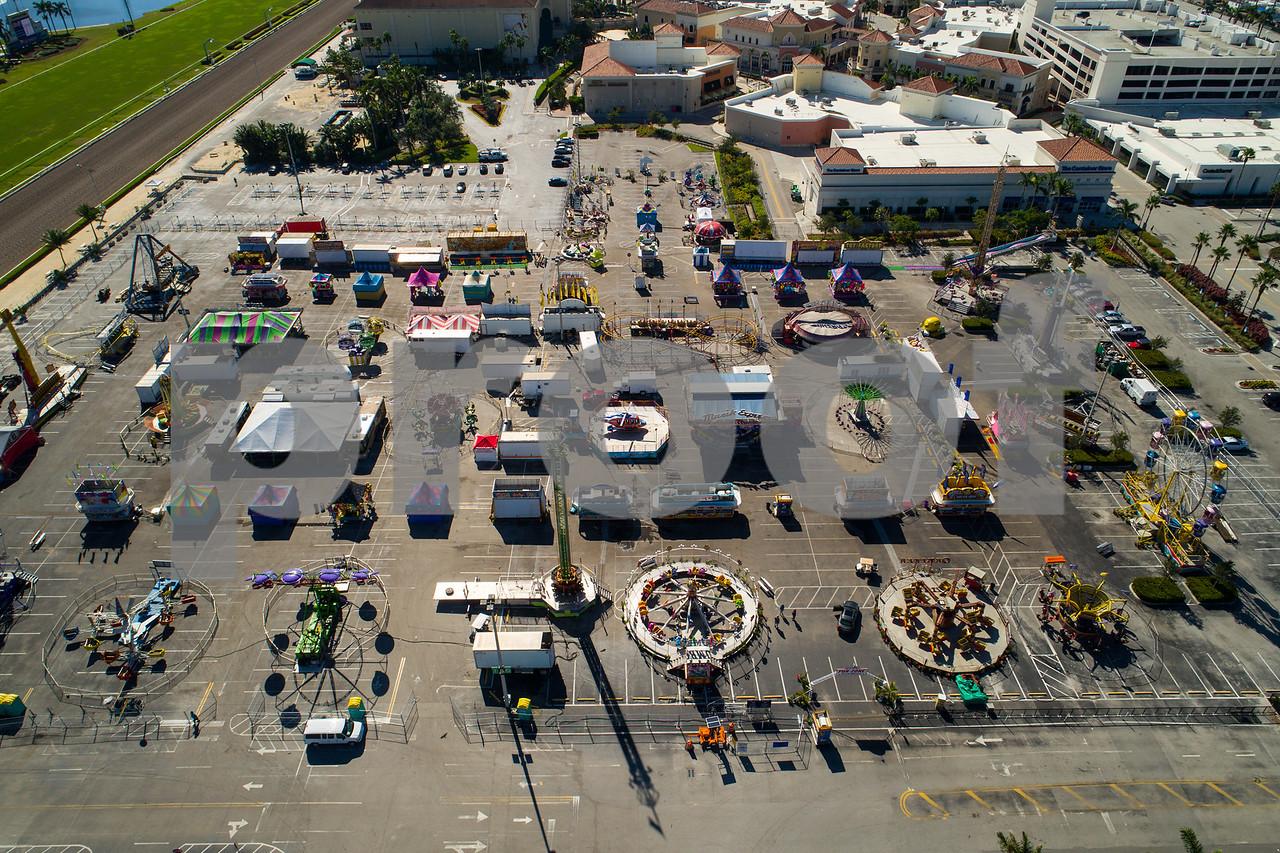 Aerial drone image Broward County Fair