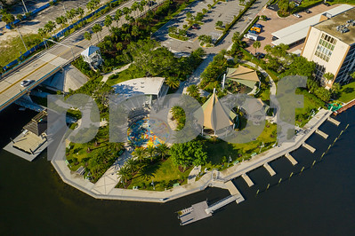 Aerial drone photo of Sullivan Park Deerfield Beach Florida