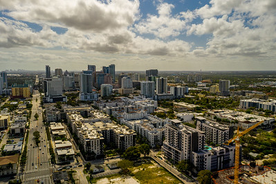 Aerial drone photo Downtown Fort Lauderdale Florida USA