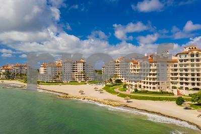 Drone photography of Fisher Island Miami Beach FL USA