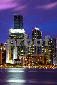 Artistic image of a city at night long exposure