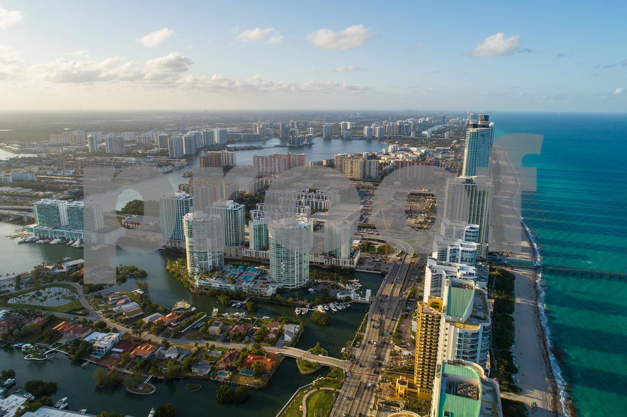Drone shot Sunny Isles Beach Florida