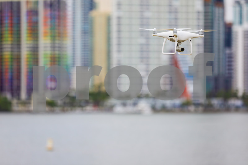 Image of a drone hovering