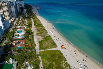 Aerial photo Miami Beach FL USA