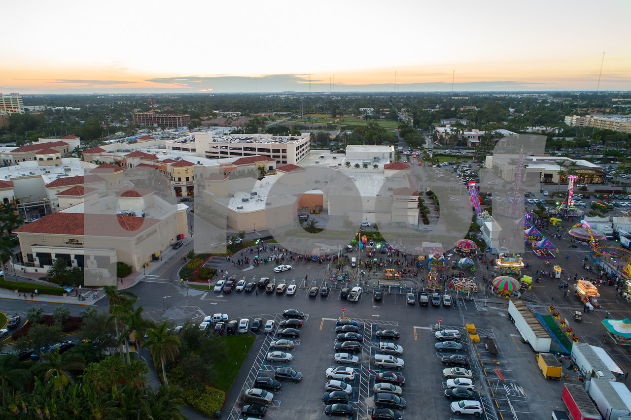 Aerial image Broward County fair and shops at Gulfstream Park Hallandale